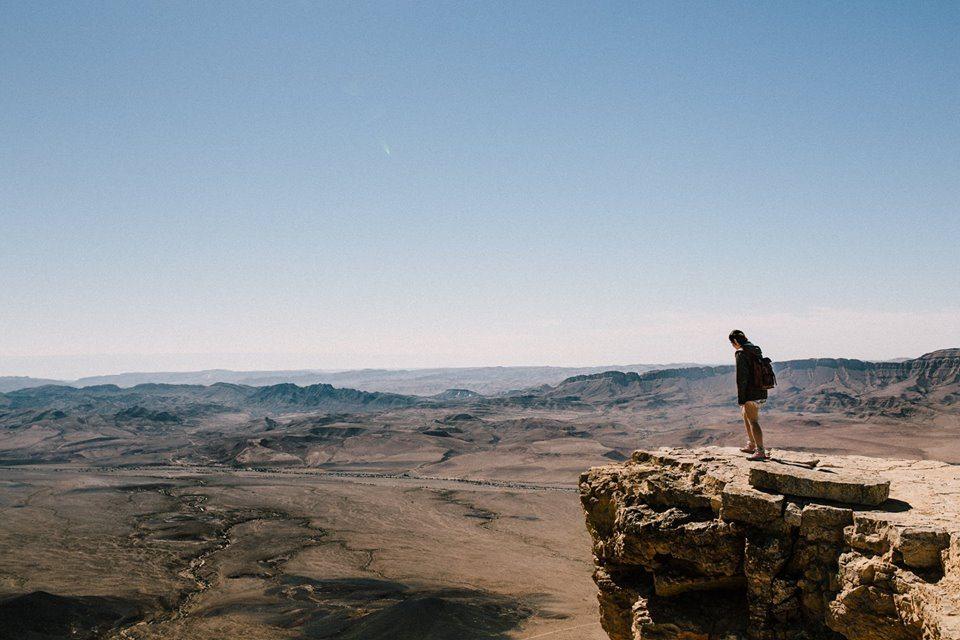 מצפה רמון, טיילת מכתש רמון (צילום: בנימין בלהסן)