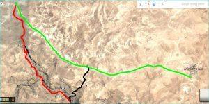 מפת מסלול הטיול בקניון משאש-מורבעת