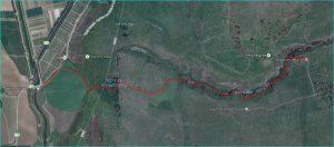 מפת מסלול נחל גילבון ארוך