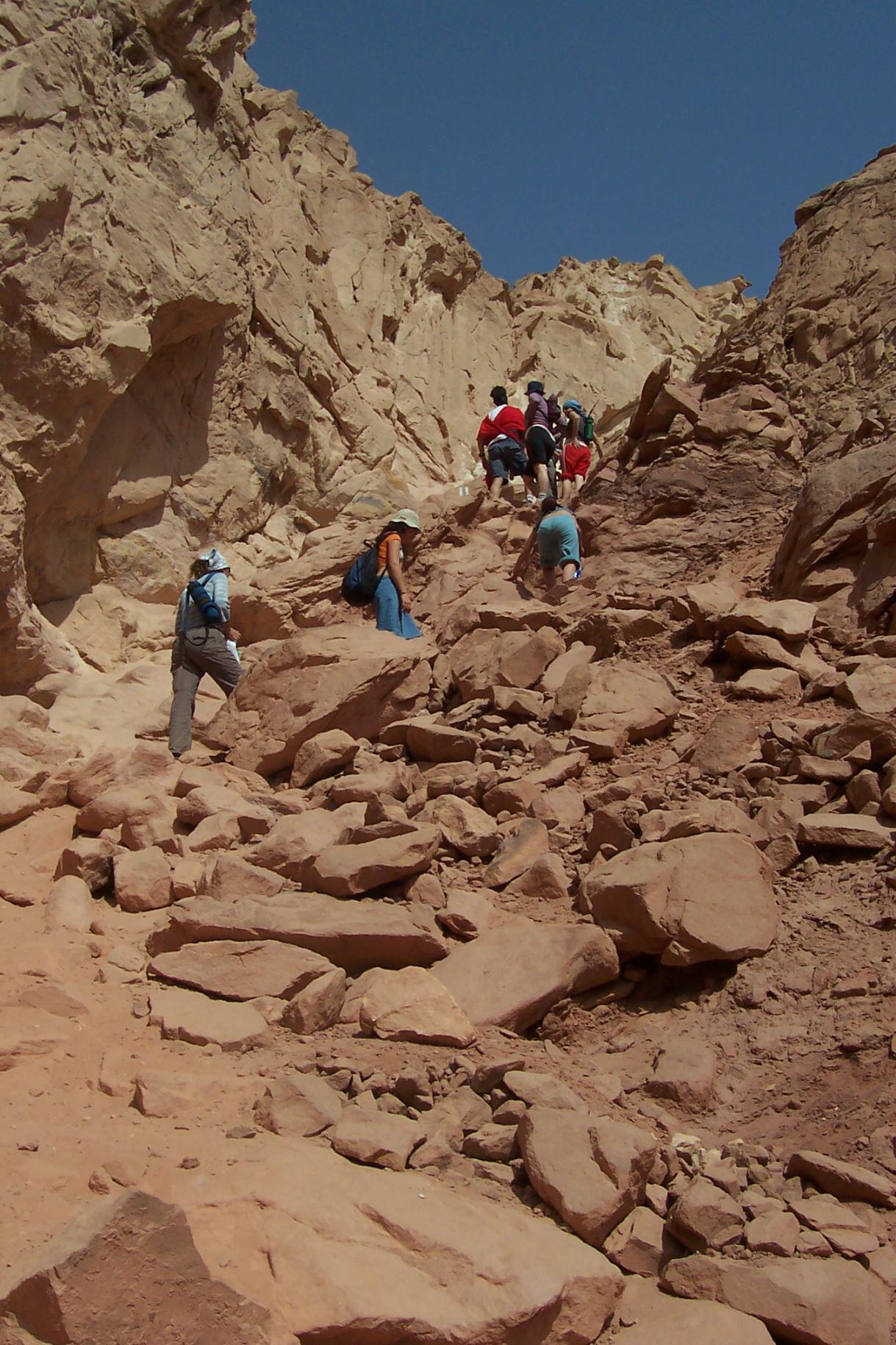 טיול בהרי אילת