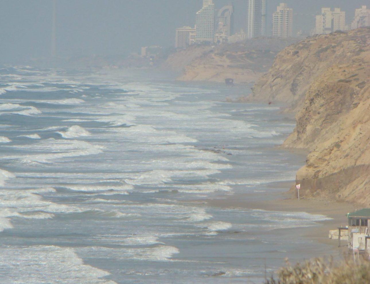 """מצוקי כורכר בחוף השרון, צילום: ד""""ר ענת אביטל"""