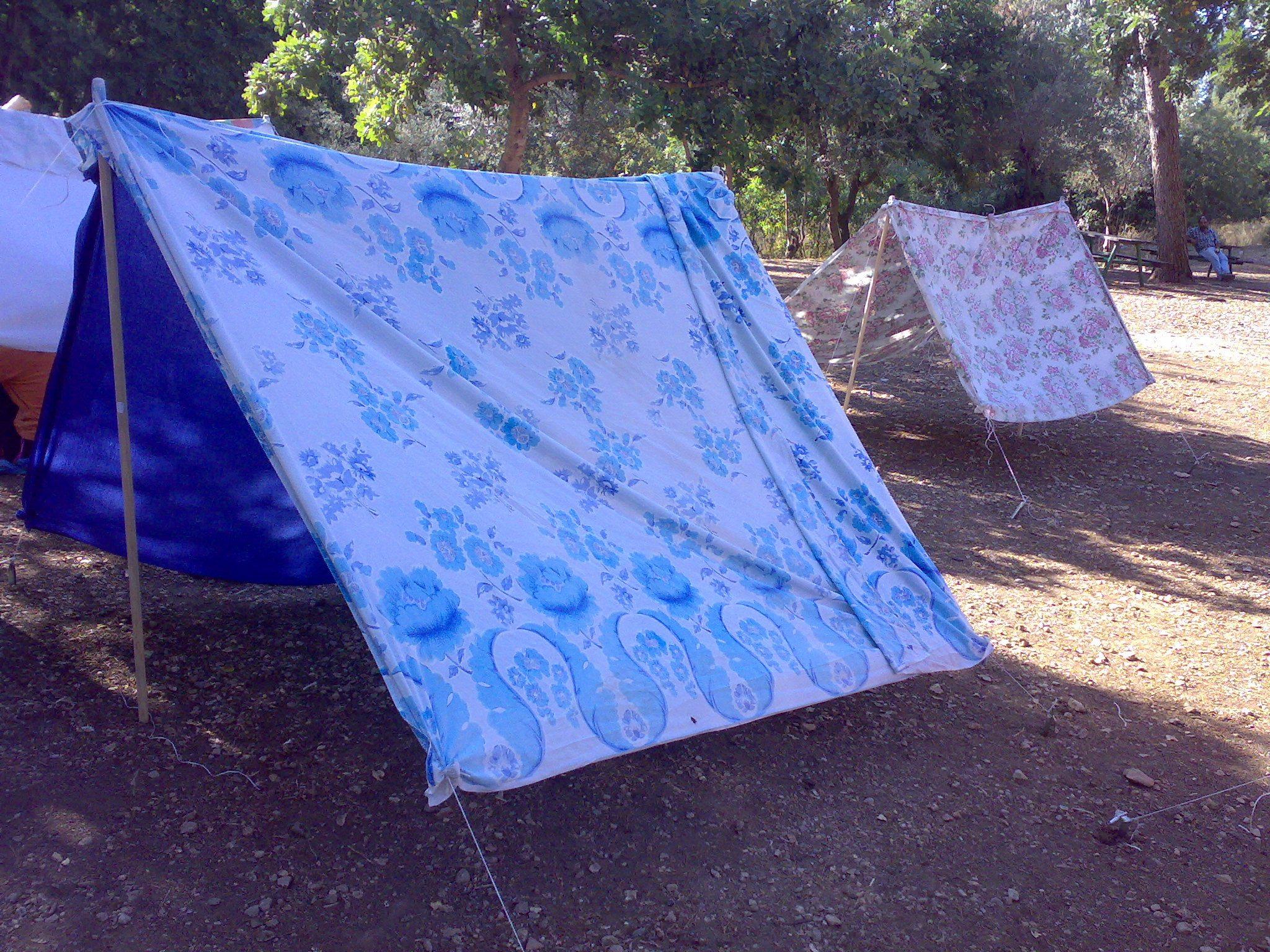 סדנה להכנת אוהל סיירים
