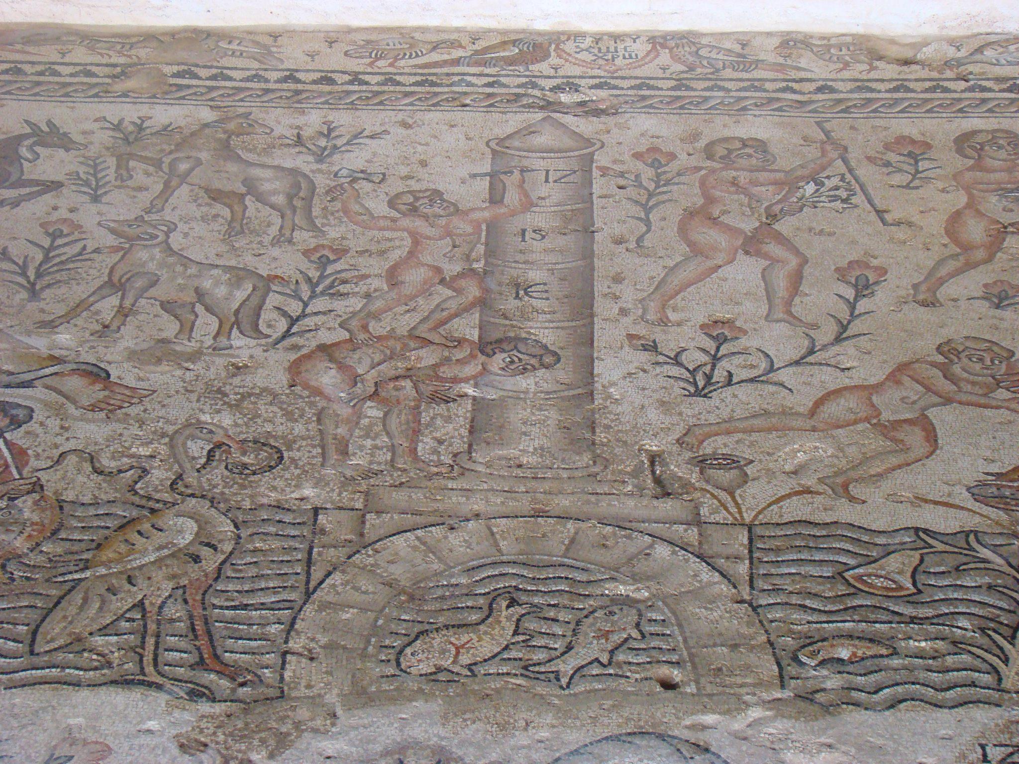 """פסיפס בית חג הנילוס בגן לאומי ציפורי (צילום: ד""""ר ענת אביטל)"""