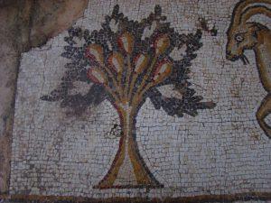 עץ אגסים, פסיפס הציפורים מקיסריה