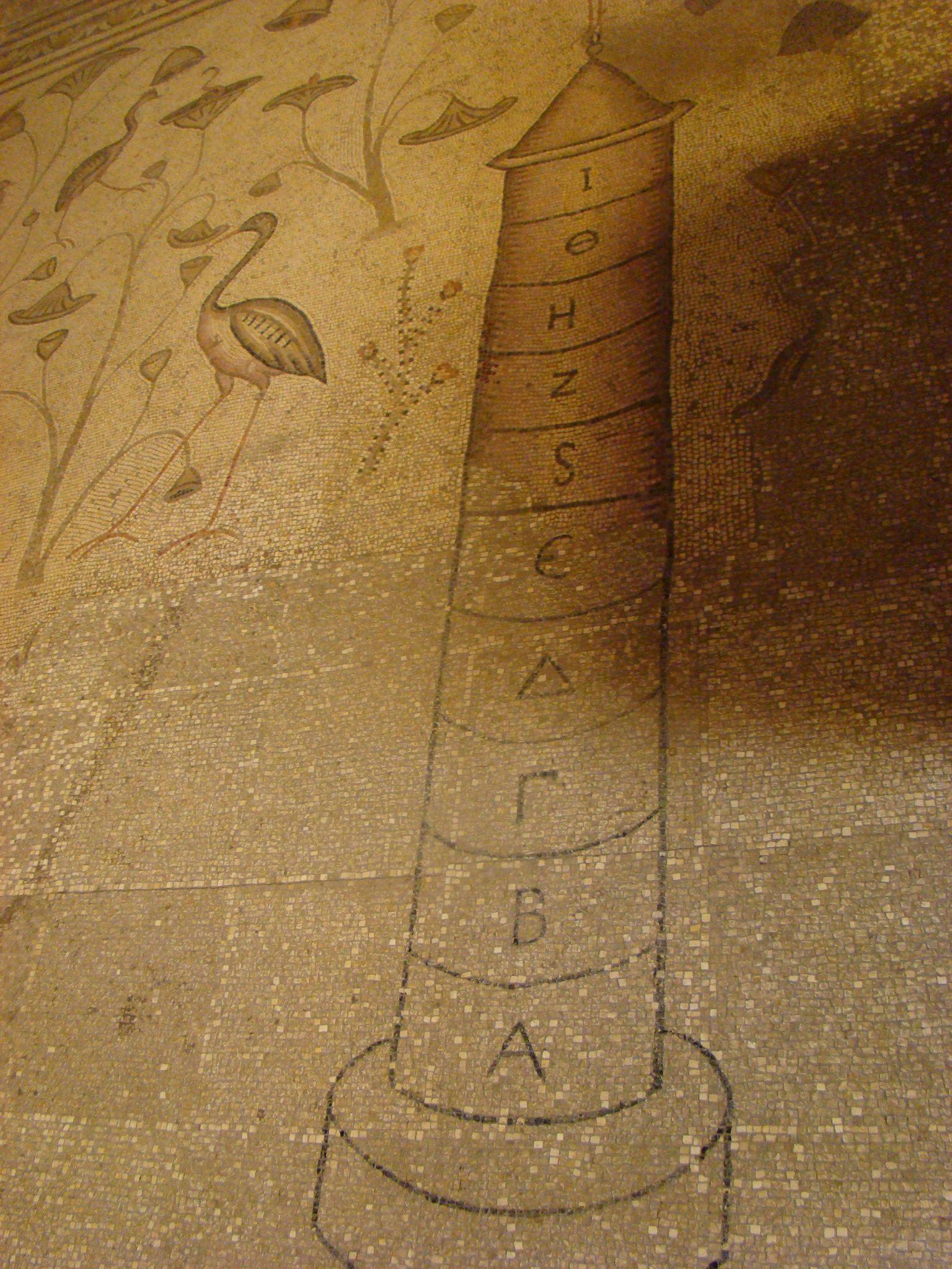 נילומטר, פסיפס הנילוס בכנסיית הלחם והדגים, טיילת הבשורה בצפון הכינרת