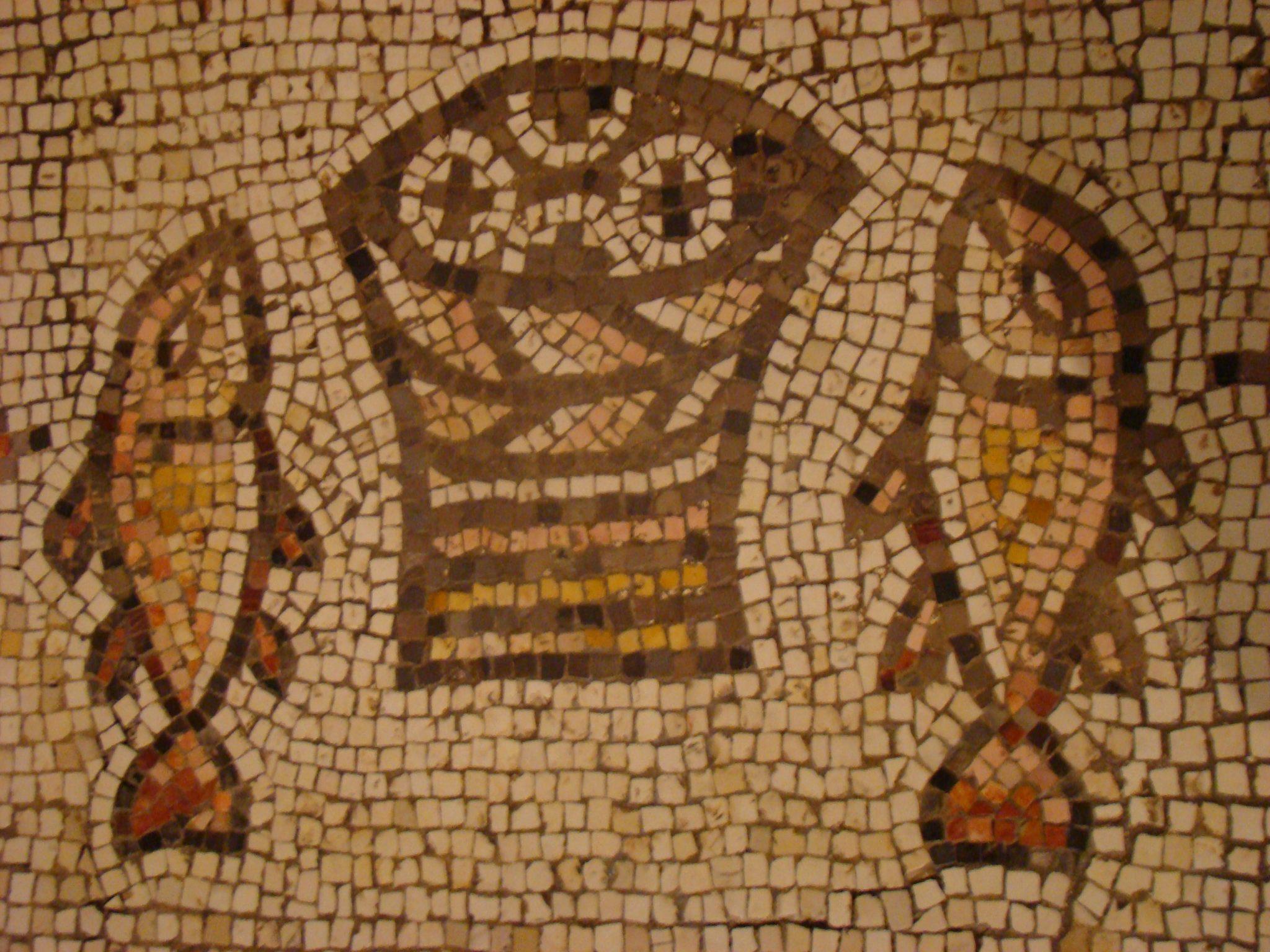 פסיפס כנסייה ביזנטית בטבחה, נס הלחם והדגים