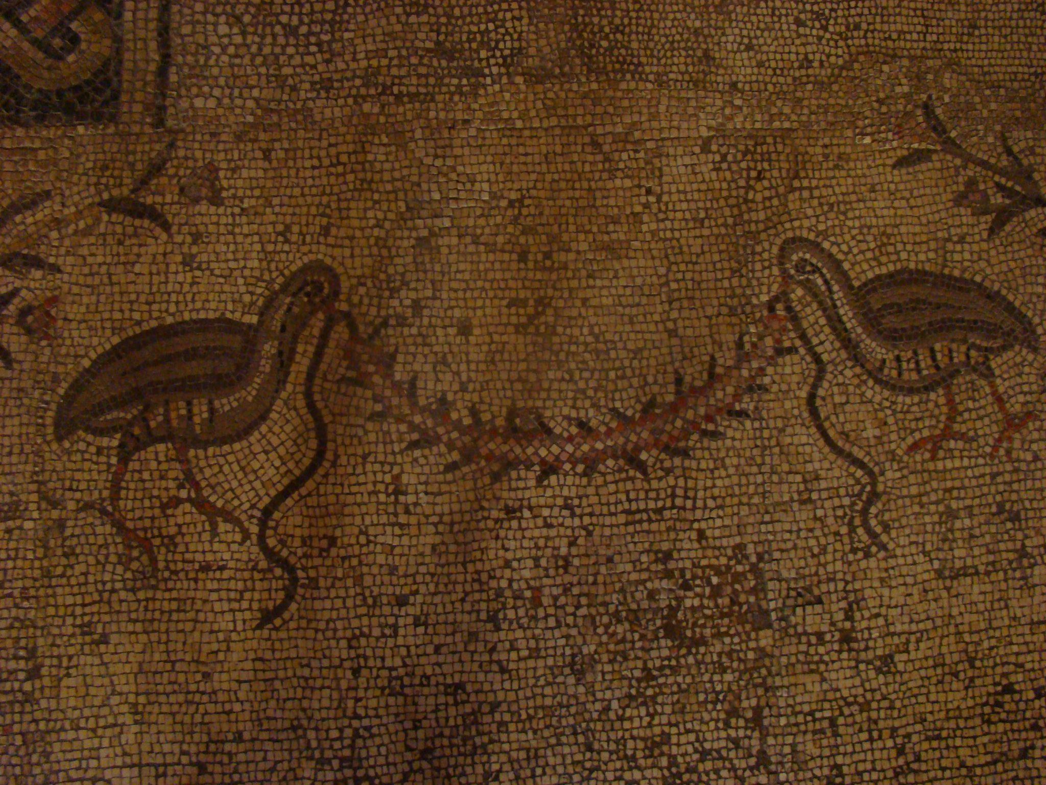 פסיפס בכנסיית הלחם והדגים, טיילת הבשורה בצפון הכינרת