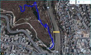 מפת מסלול טיול בליפתא
