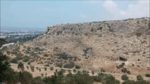 נוף ממערת אצבע בכרמל