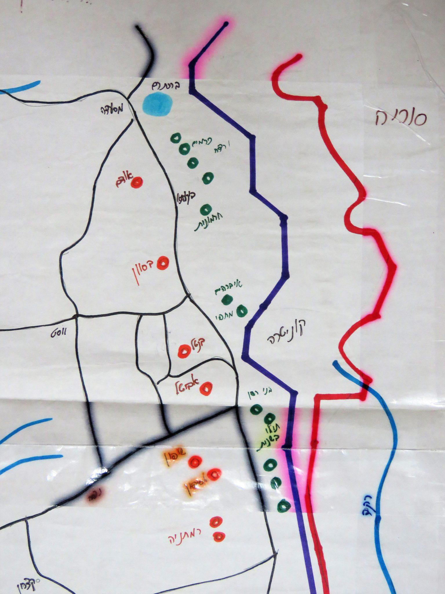 שרטוט תילי געש ונחלים בגולן הצפוני והמרכזי