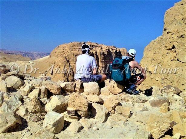 """מבט אל מצדה מהר אלעזר, דרום ים-המלח, צילום: ד""""ר ענת אביטל"""