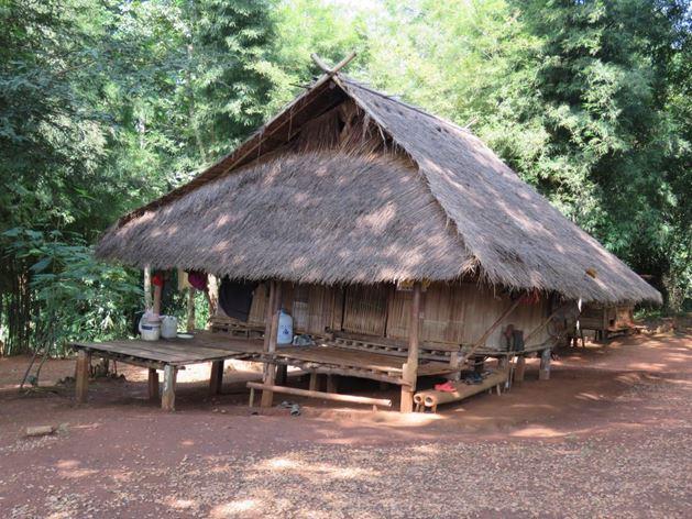 שימושי הבמבוק לבנייה בשמורת השבטים בצפון תאילנד, צ'יאנג ראי (צילום: ד