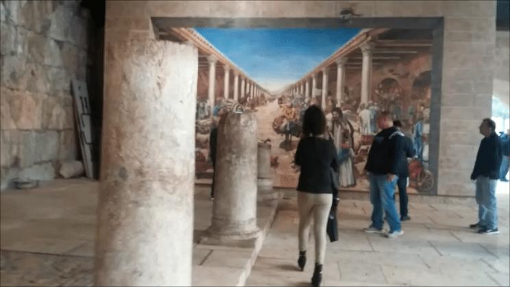 """ציור קיר בקרדו בירושלים (צילום: ד""""ר ענת אביטל)"""