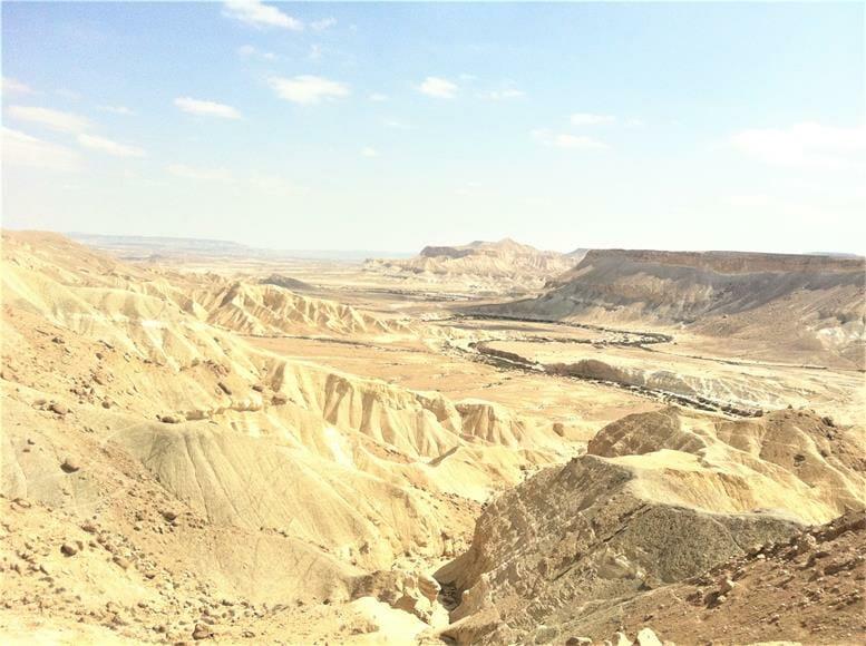"""נופי נחל צין מקבר בן גוריון בשדה בוקר בהר הנגב, צילום: ד""""ר ענת אביטל"""