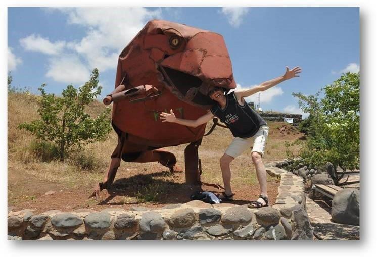 פסל ברזל של האמן יופ דה יונג, הר בנטל