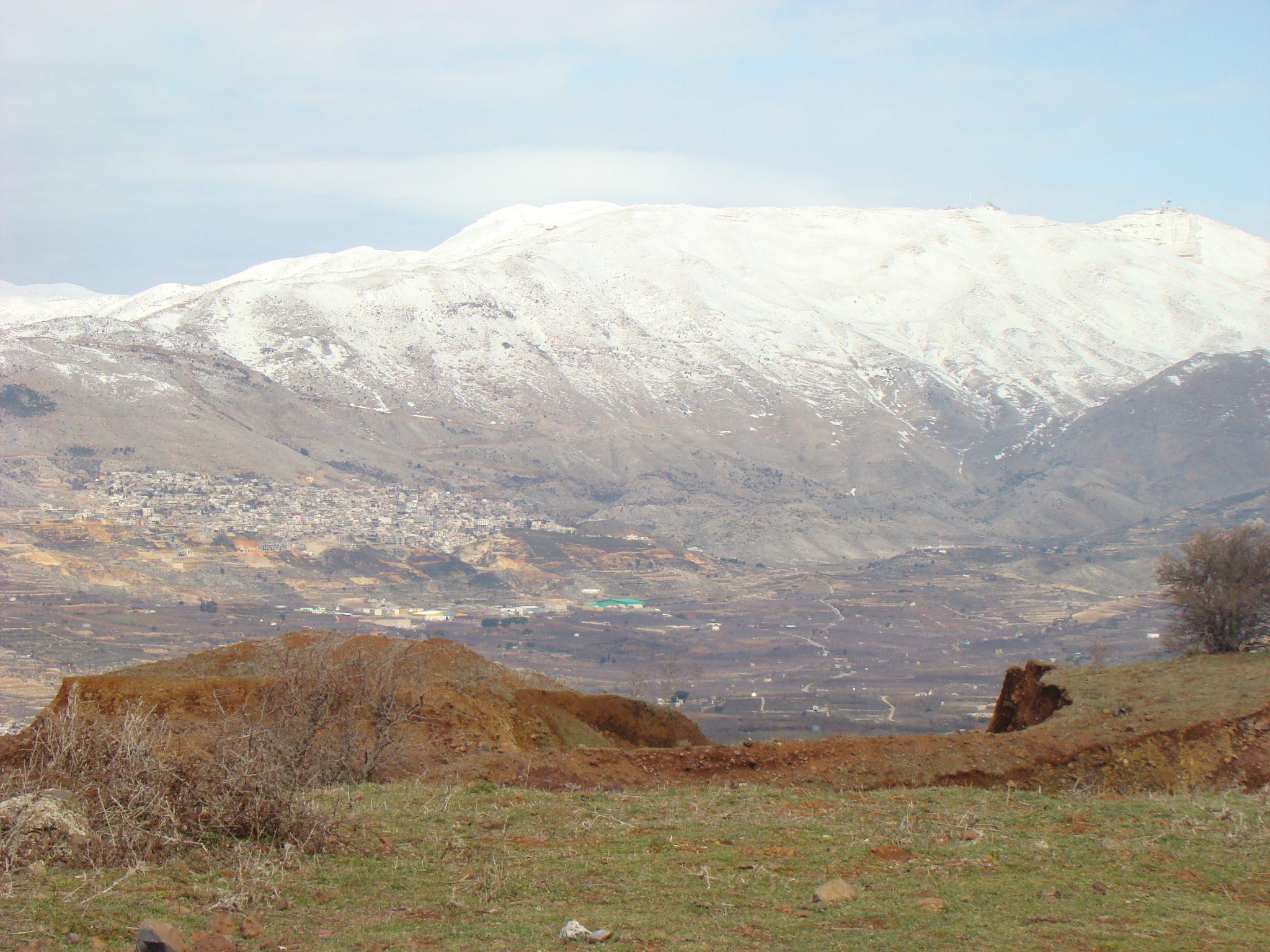 """נוף החרמון מפסגת הר אודם (צילום: ד""""ר ענת אביטל)"""