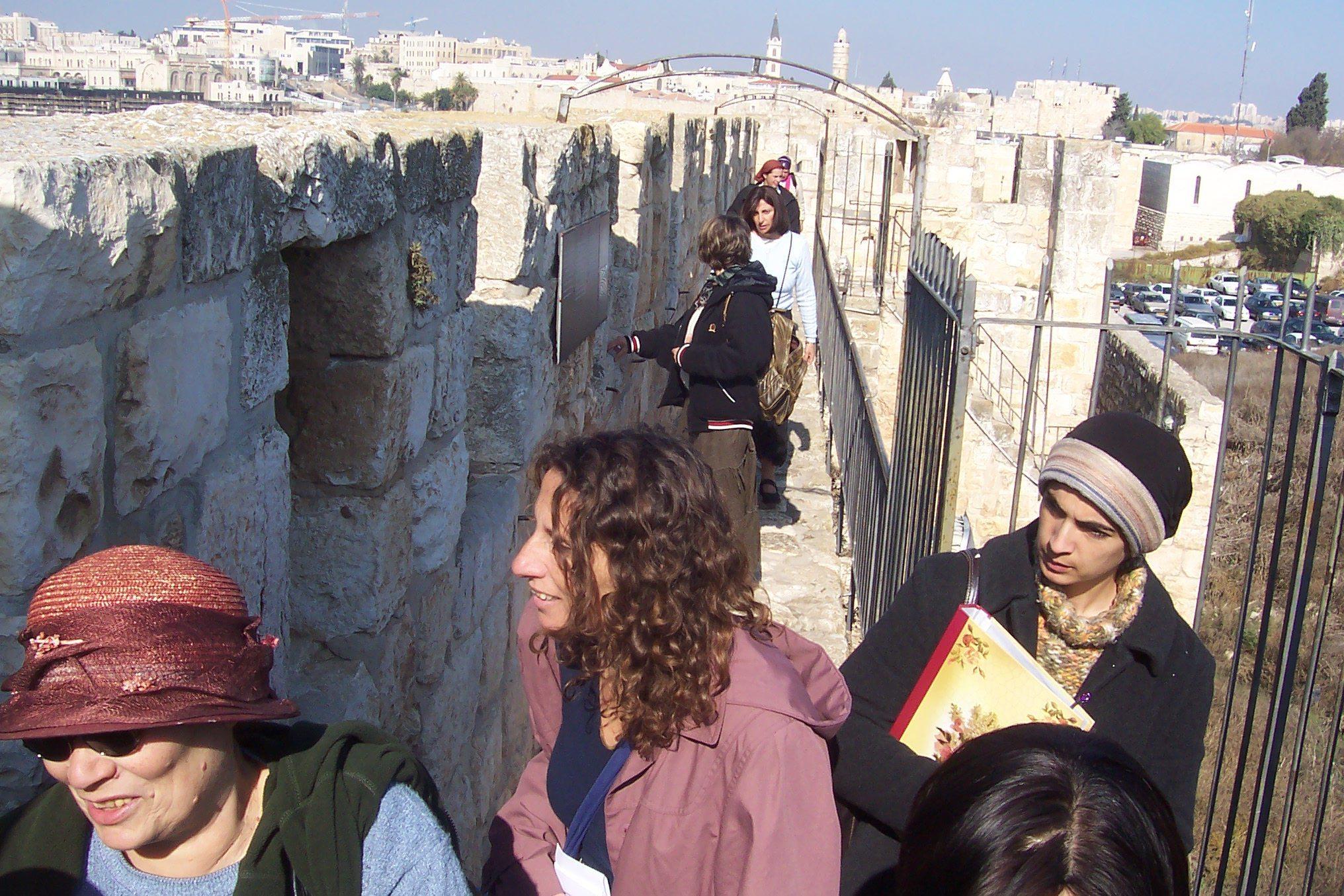 """טיילת חומות בירושלים (צילום: ד""""ר ענת אביטל)"""