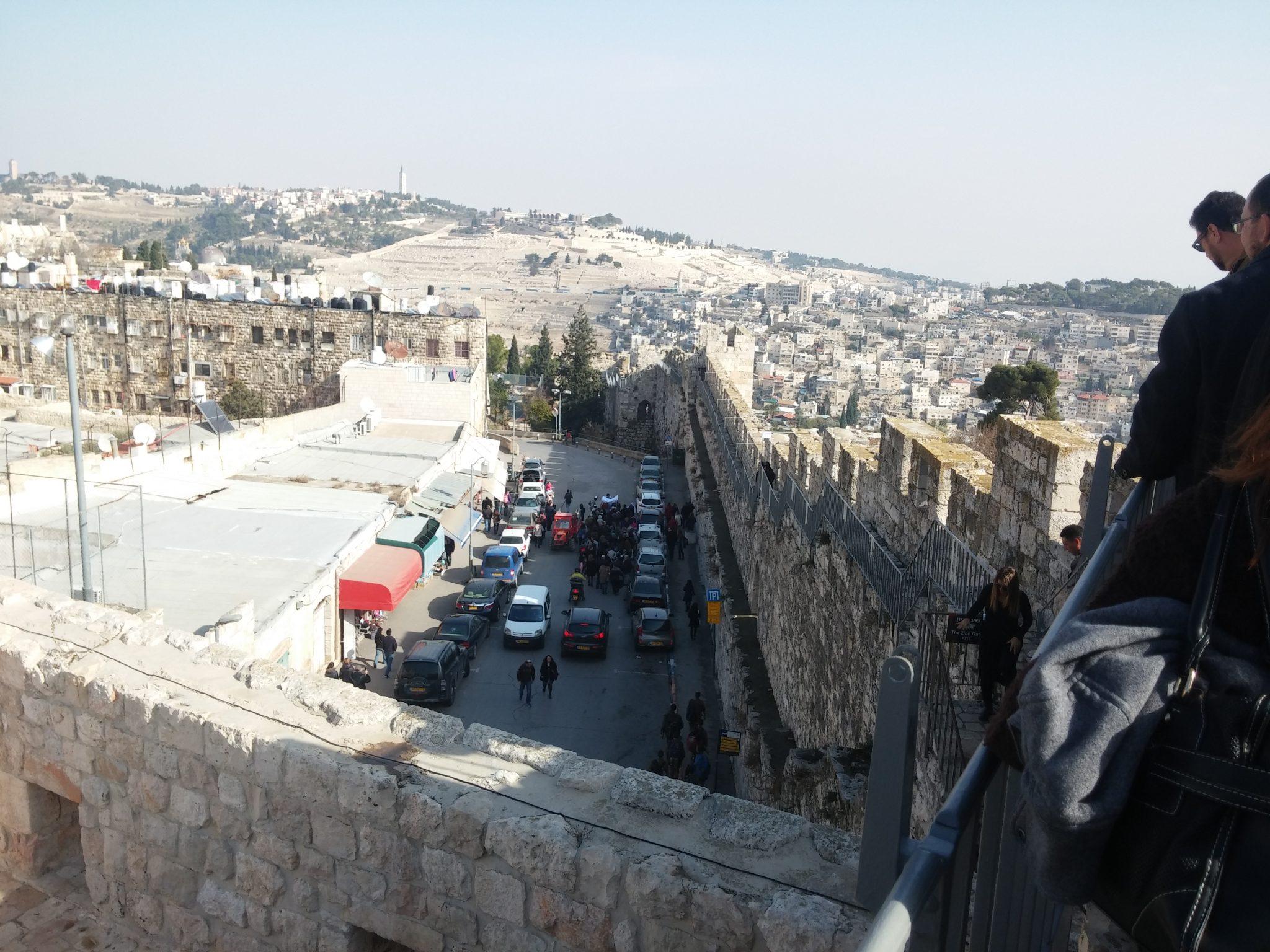 """הרובע הארמני, טיילת חומות בירושלים (צילום: ד""""ר ענת אביטל)"""