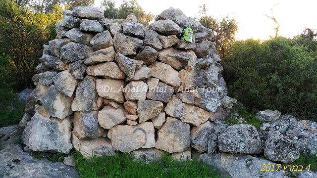 """גלי סיקול אבנים וגדרות אבן, גבעת שר מודיעין (צילום: ד""""ר ענת אביטל)"""