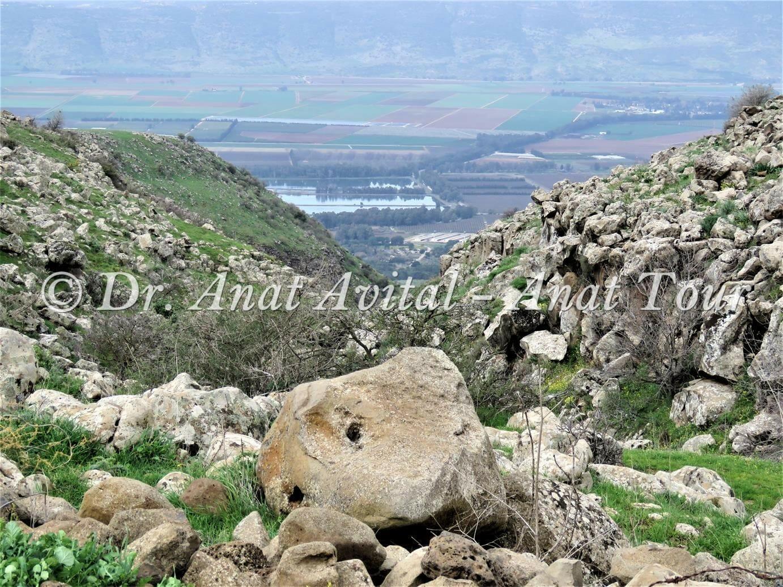 """נופי בקעת החולה מנחל עורבים בצפון הגולן, צילום: ד""""ר ענת אביטל"""