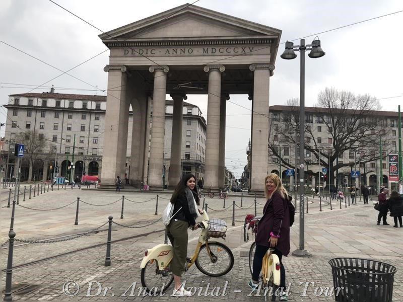 """טיול אופניים, פורטה טיצ'ינזה מילאנו Porta Ticinese (ד""""ר ענת אביטל)"""