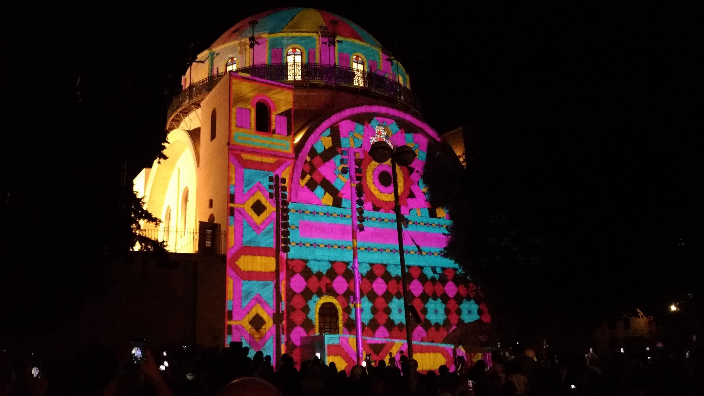 בית כנסת החורבה - פסטיבל האור ירושלים 2018