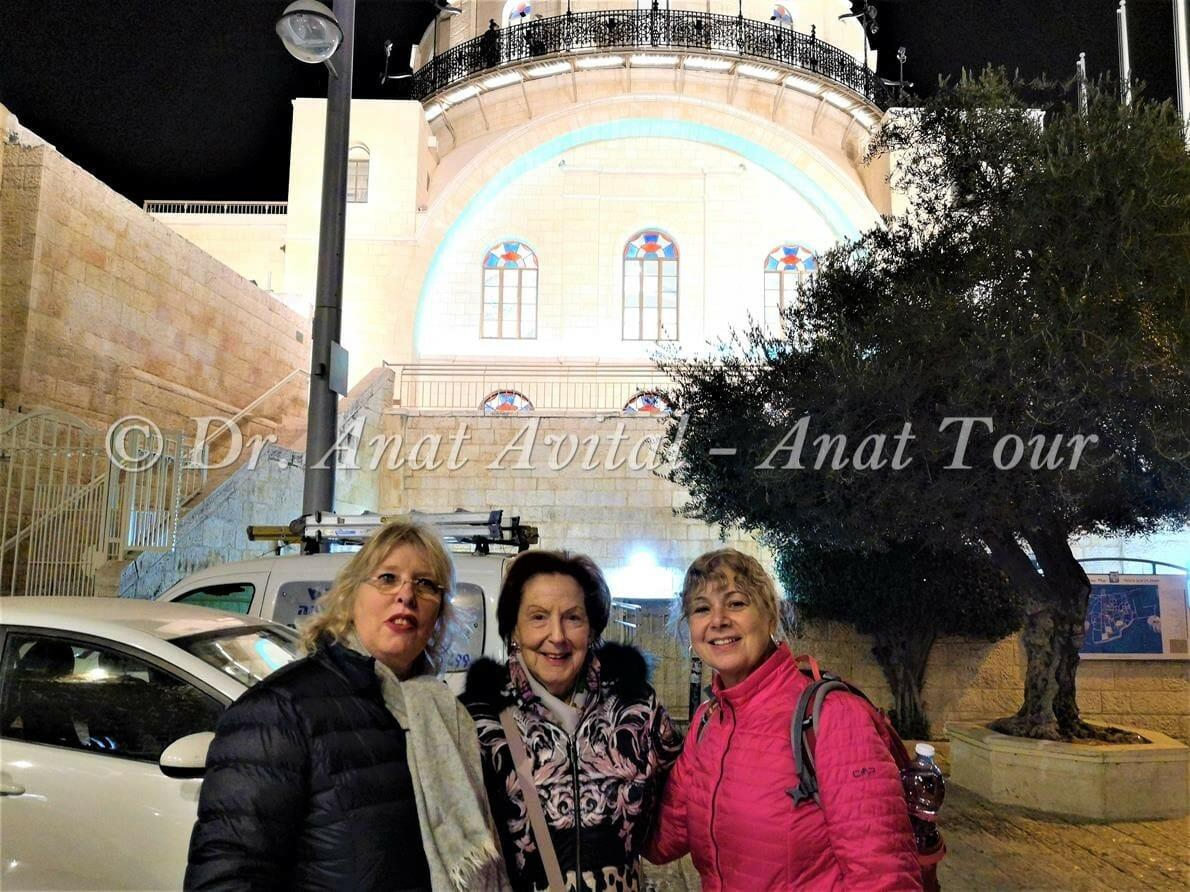 """בית כנסת החורבה, טיול חנוכיות פרטי ולקבוצות בירושלים, ד""""ר ענת אביטל"""