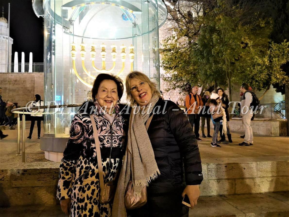"""מנורת הזהב, טיול חנוכיות פרטי ולקבוצות בירושלים, ד""""ר ענת אביטל"""