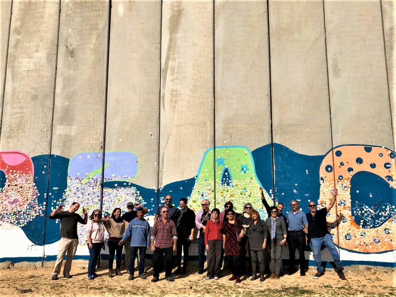 קיר השלום נתיב לשלום עם מנהלים מקיבוץ מעלה החמישה