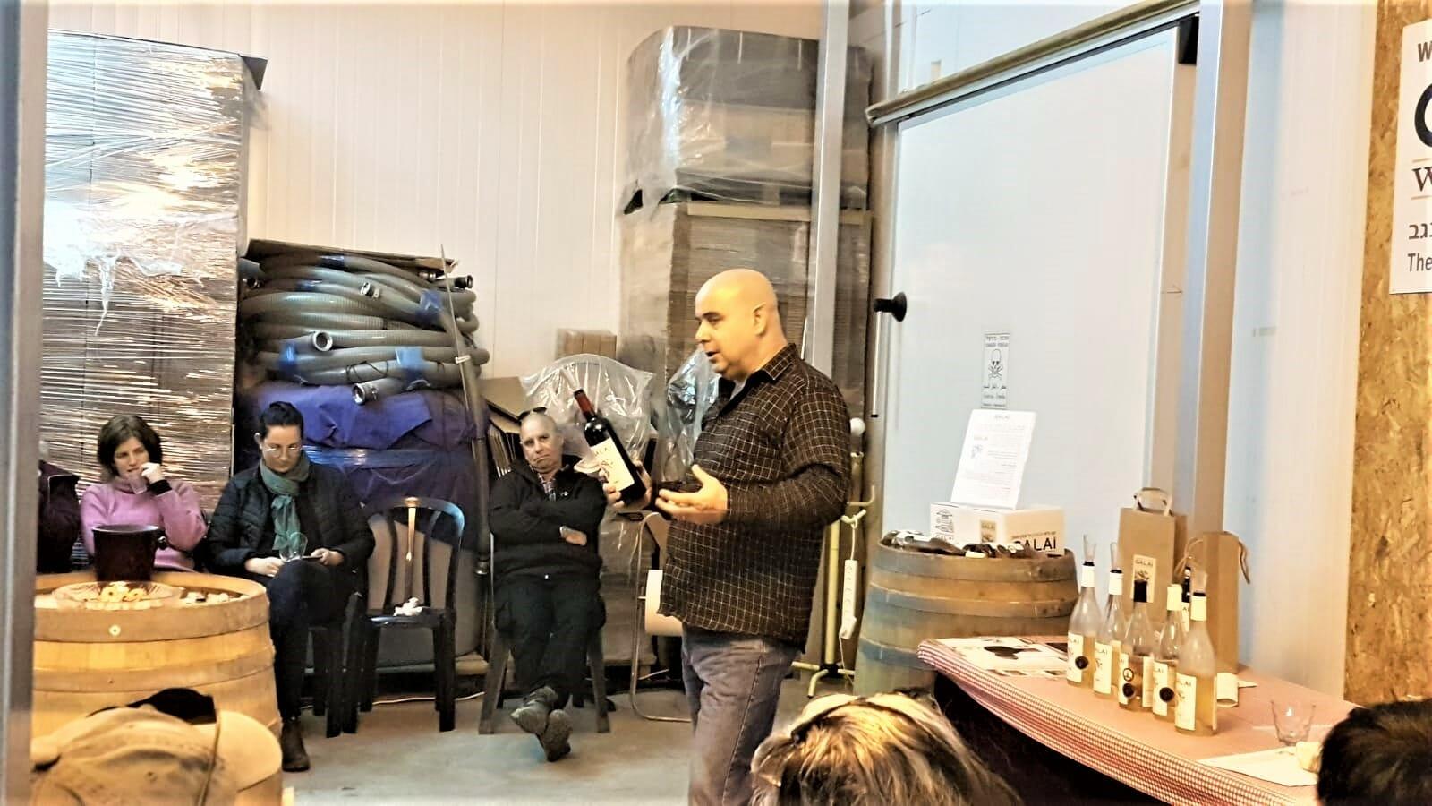 ביקור וטעימות ביקב גלאי עם מנהלים מקיבוץ מעלה החמישה
