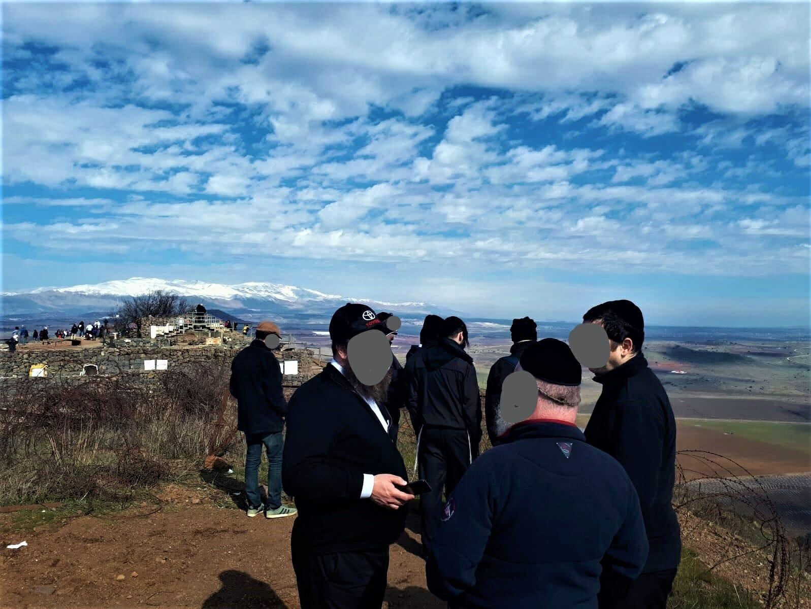 """טיול יום כיף וגיבוש לגברים חרדיים עובדי חברת נדל""""ן, תצפית הר בנטל"""