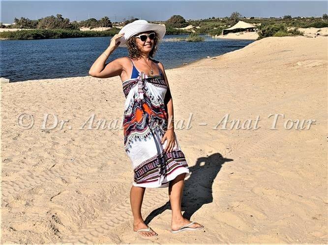"""לגונת נחל שקמה בחוף זיקים, צילום: ד""""ר ענת אביטל"""