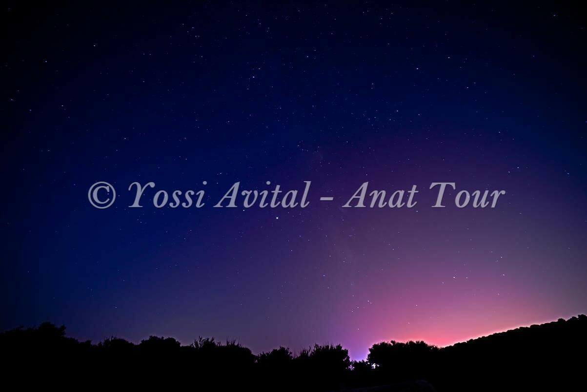 שביל החלב בליל מטר מטאורים ופרסאידים, כוכבים בשמי הקיץ הישראלי, צילום: יוסי אביטל