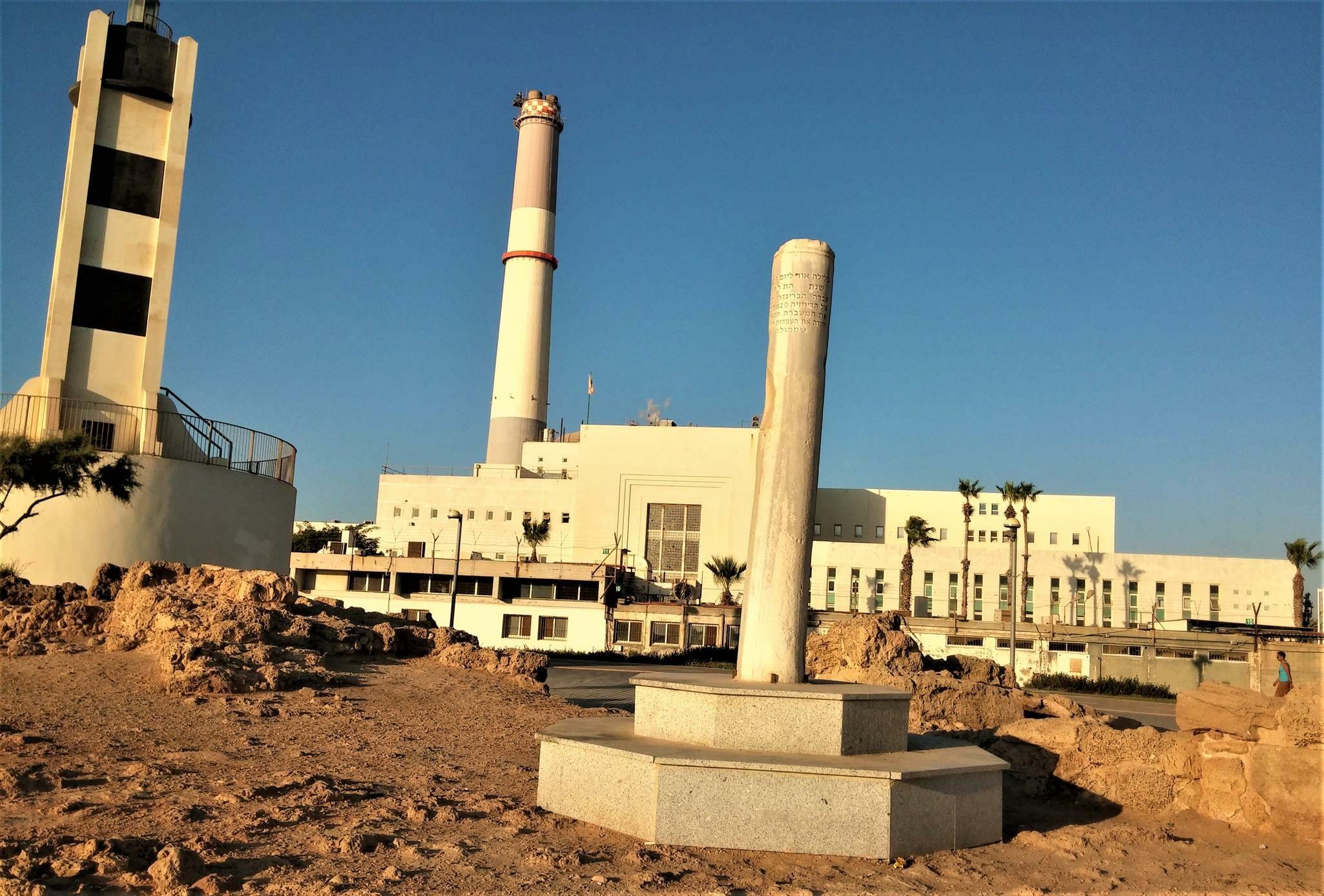 """מגדלור שפך הירקון נמל תל אביב, צילום: ד""""ר ענת אביטל"""