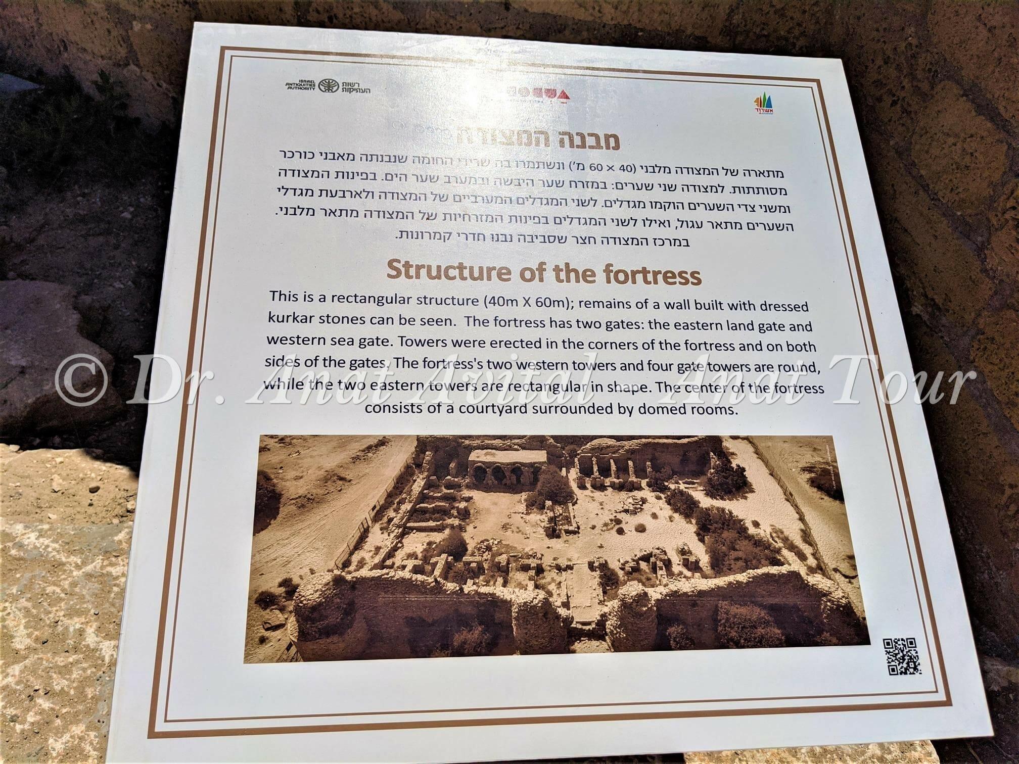 """מצודת אשדוד ים, צילום: ד""""ר ענת אביטל"""