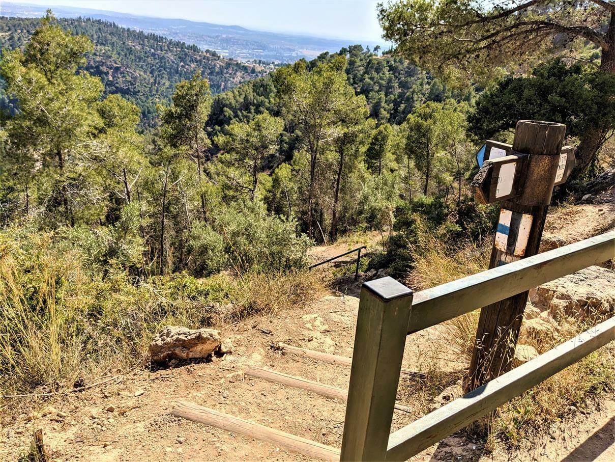 """ירידה בהר כרמילה, שביל ישראל אל נחל כיסלון, צילום: ד""""ר ענת אביטל"""