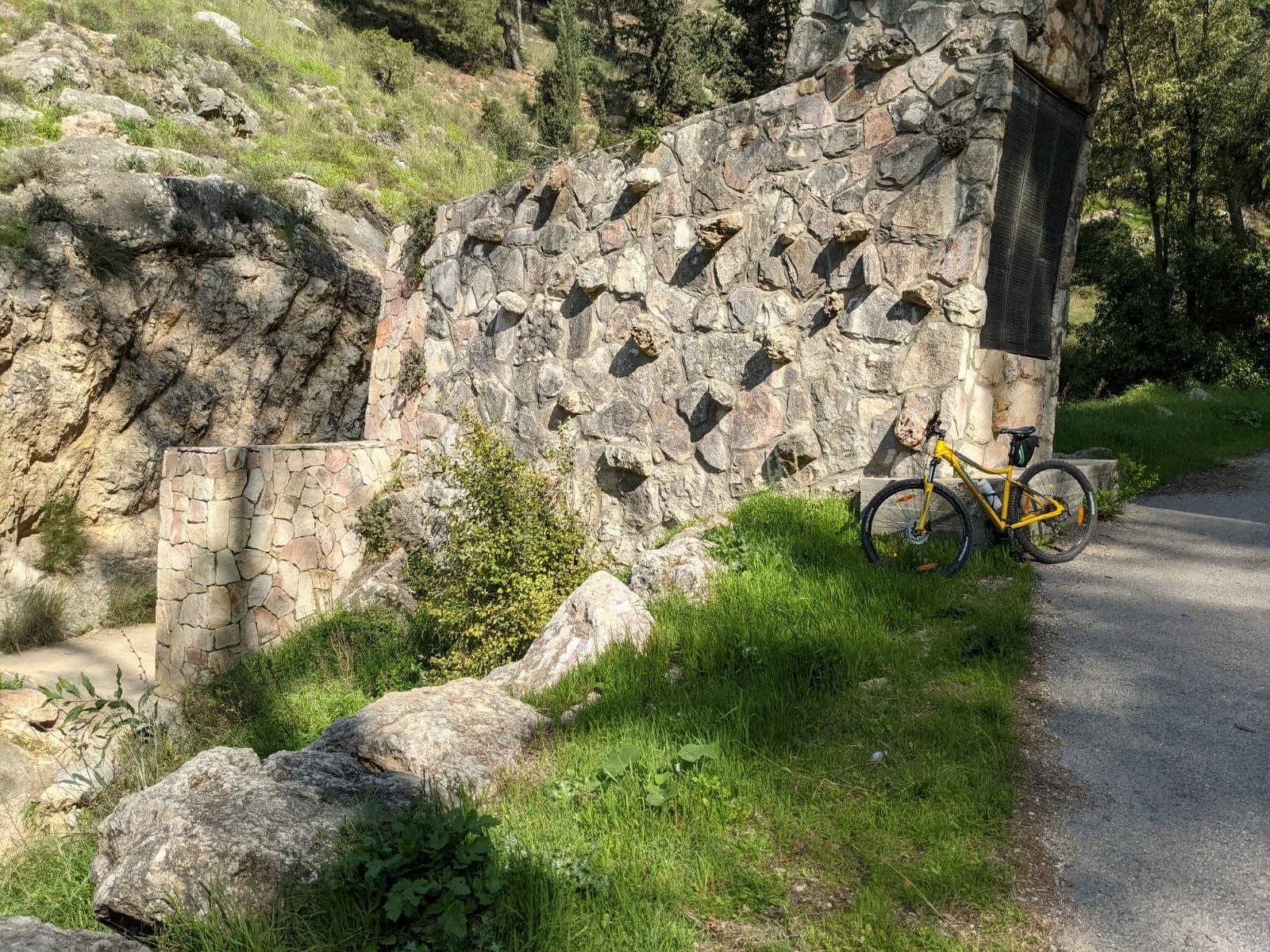 """נחל כיסלון באופניים, שער יער הקדושים, צילום: ד""""ר ענת אביטל"""