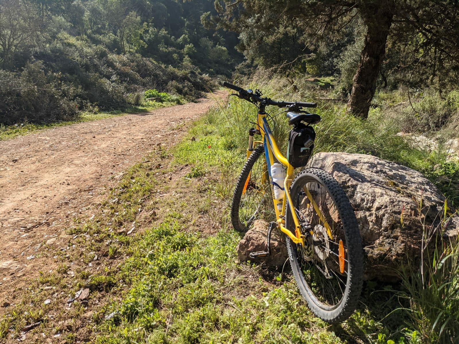 """נחל כיסלון באופניים, צילום: ד""""ר ענת אביטל"""