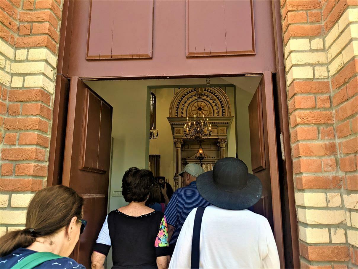 """בית הכנסת ההולנדי המשוחזר במבוא חורון, טיול מועדון אוניברסיטת תל-אביב, צילום: ד""""ר ענת אביטל"""