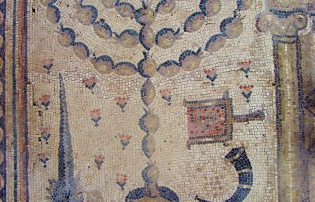 חמת טבריה: בית כנסת עתיק עם פסיפס גלגל המזלות, מנורה וארבעת המינים