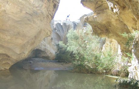 טיול לעין ירקעם: גב מים חורפי ענק במכתשים בנגב