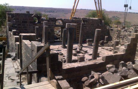 אום אל קנאטיר, עין קשתות, קשתות רחבעם: חידוש בית כנסת עתיק בגולן