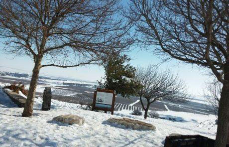 תצפית קונטרה רמפת התיירים (רונן) ליד עין זיוון: תצפית חובה בטיול בצפון הגולן