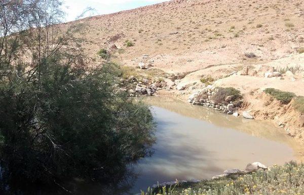 """בור הקצינים: מים טובים בחורף ליד מצפה רמון ובה""""ד 1"""