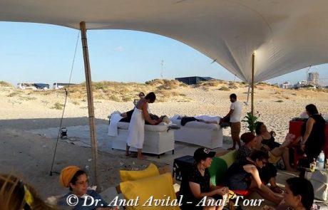 יום כיף בחוף חדרה-אולגה, למורים מבית הספר נחשונים מאריאל, יוני 2018