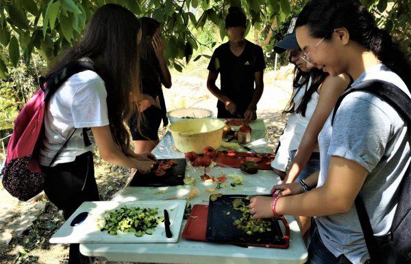 בישולי שדה, אפיית פיתות, שקשוקה ואבטיח לקינוח: לתלמידי תיכון רנה קסין, יוני 2019