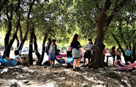 """פעילות יום כיף לתלמידות דתיות לסוף שנה בכרמל, בית ספר אהרון הרוא""""ה חיפה, יוני 2019"""