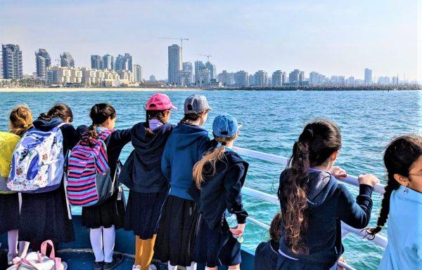 """טיול שנתי בית ספר חרדי חב""""ד של בנות 2020: דיונה אשדוד, פארק מתקנים, טיילת נחל לכיש ושייט במרינה"""