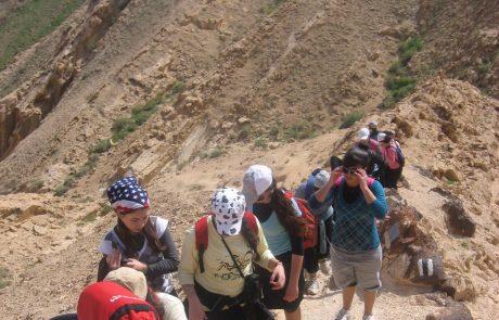 הסנפיר הגדול במכתש הגדול: טיול מדהים למייטיבי לכת במכתשים
