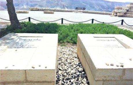 קבר בן גוריון דוד ופולה בשדה בוקר